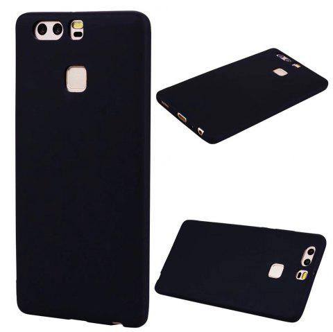Ultra-thin Back Cover Solid Color Soft TPU Case for Huawei P9 - BLACK