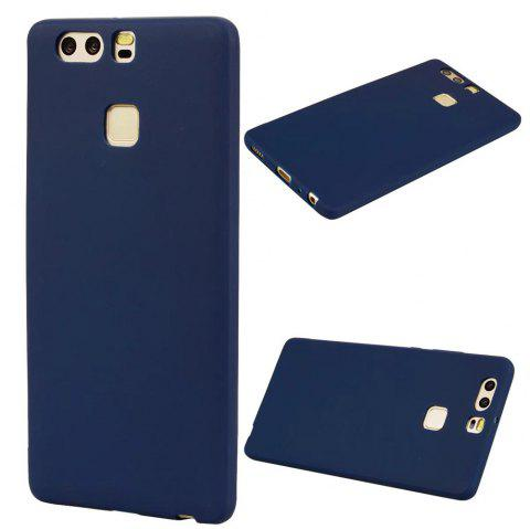 Ultra-thin Back Cover Solid Color Soft TPU Case for Huawei P9 - CERULEAN