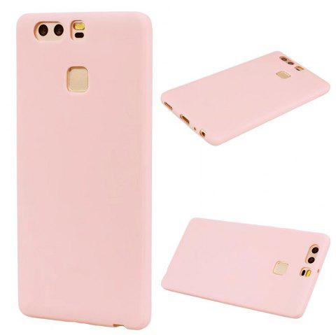 Ultra-thin Back Cover Solid Color Soft TPU Case for Huawei P9 - PINK