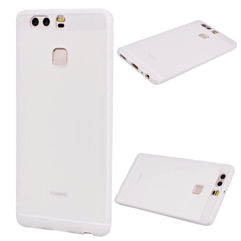 Ultra-thin Back Cover Solid Color Soft TPU Case for Huawei P9 - WHITE