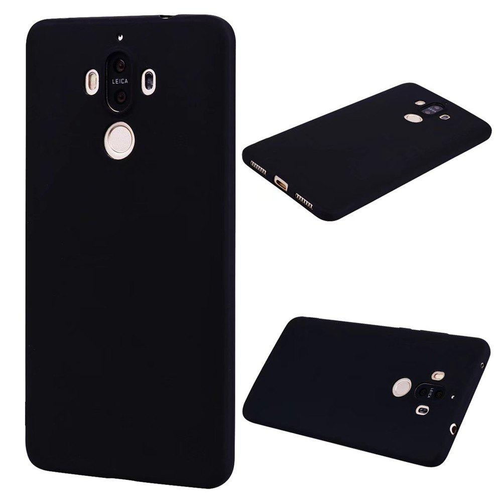 Ultra-thin Back Cover Solid Color Soft TPU Case for Huawei Mate 9 - BLACK