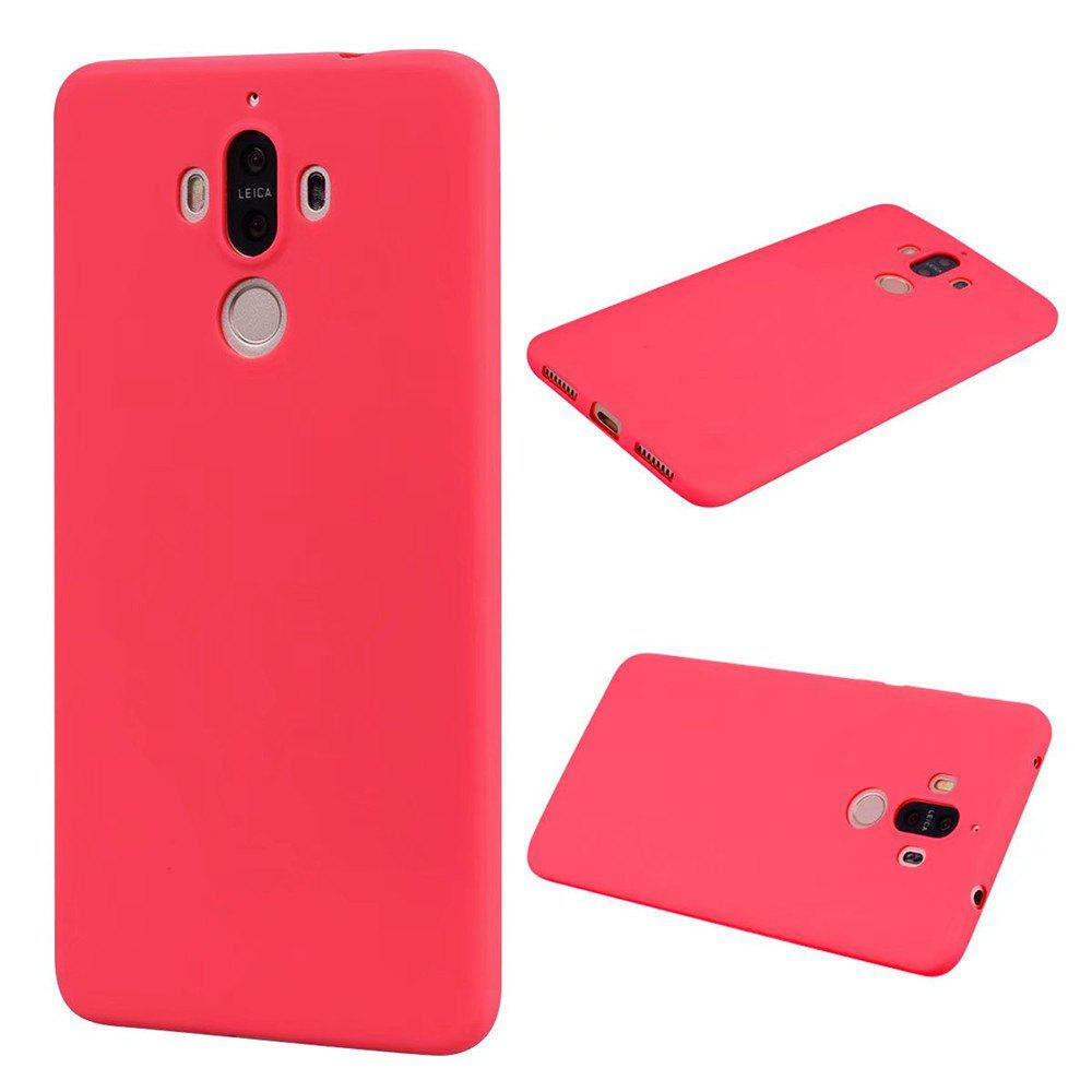 Ultra-thin Back Cover Solid Color Soft TPU Case for Huawei Mate 9 - RED