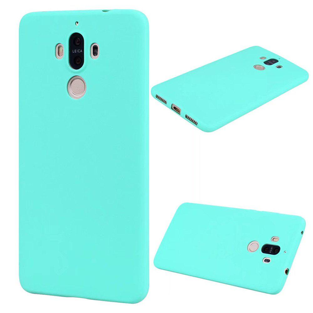 Ultra-thin Back Cover Solid Color Soft TPU Case for Huawei Mate 9 - GREEN