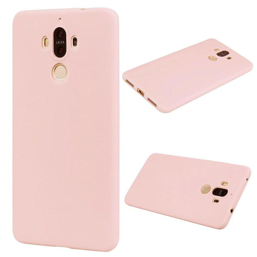 Ultra-thin Back Cover Solid Color Soft TPU Case for Huawei Mate 9 - PINK