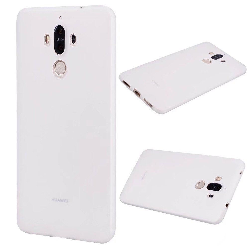 Ultra-thin Back Cover Solid Color Soft TPU Case for Huawei Mate 9 - WHITE