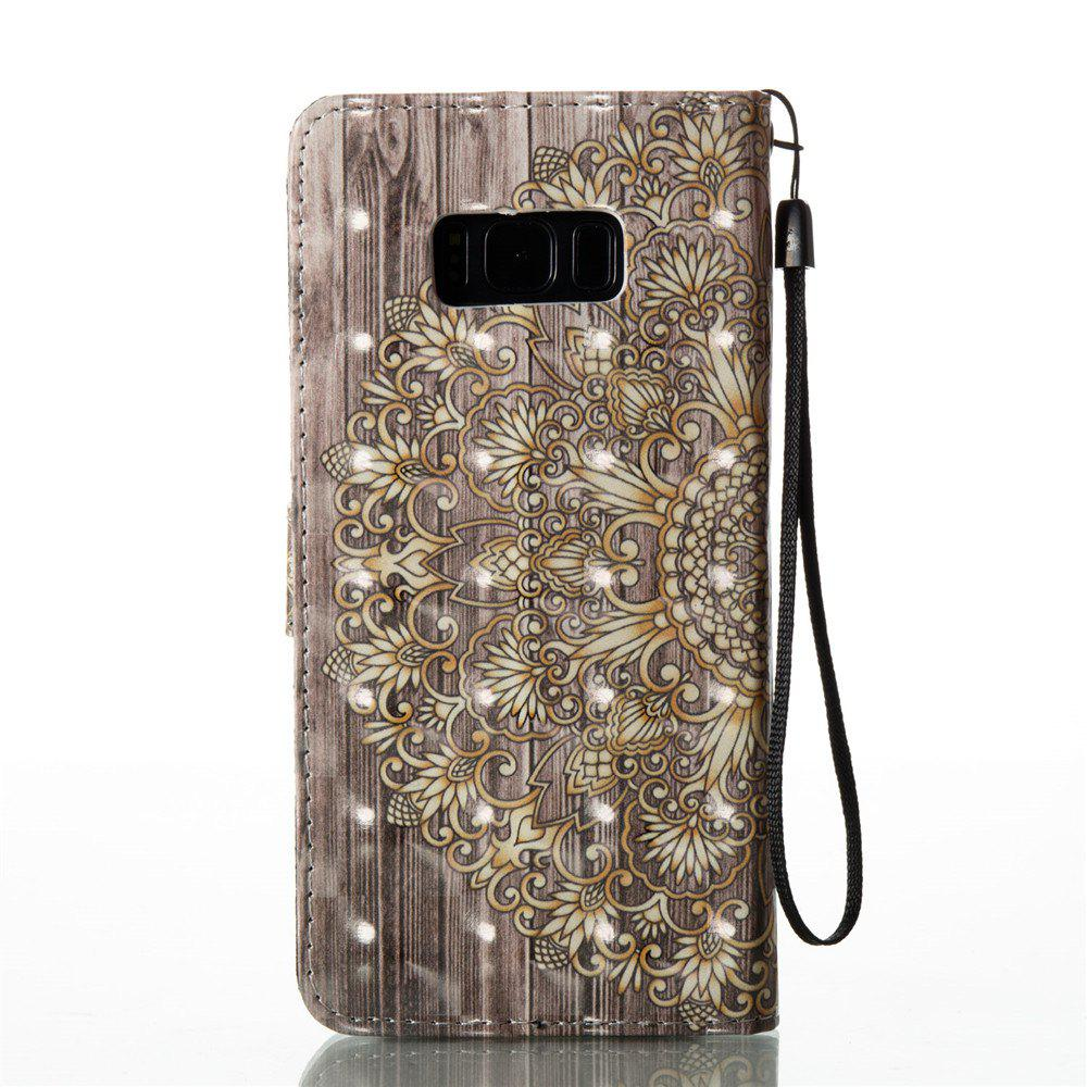 3D Painted Leather Case for Samsung Galaxy S8 Plus - GOLDEN