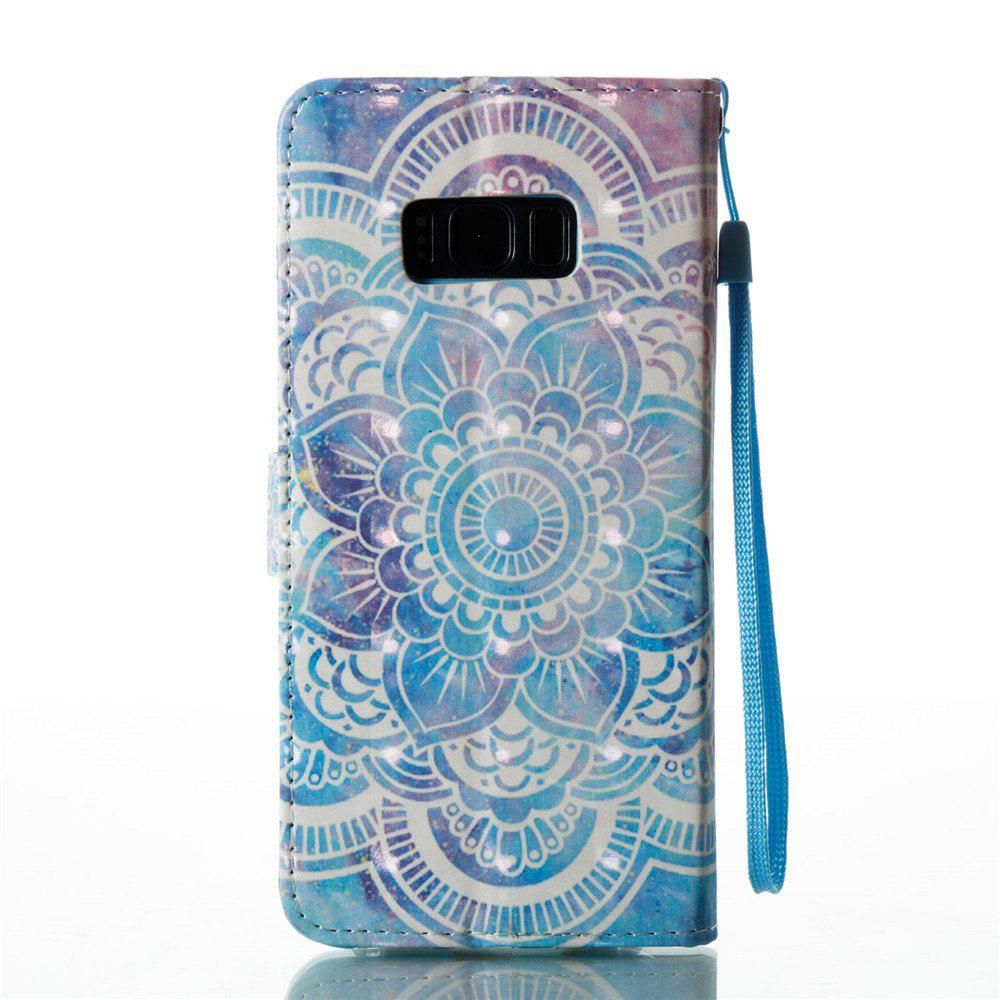 3D Painted Mandala Leather Case for Samsung Galaxy S8 Plus - BLUE