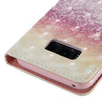 3D Painted Colored Desert Leather Case for Samsung Galaxy S8 Plus - COLORFUL