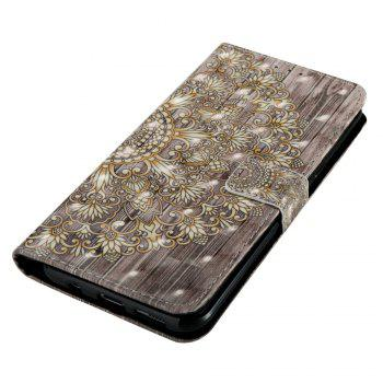 3D Painted Leather Case for Samsung Galaxy S8 - GOLDEN