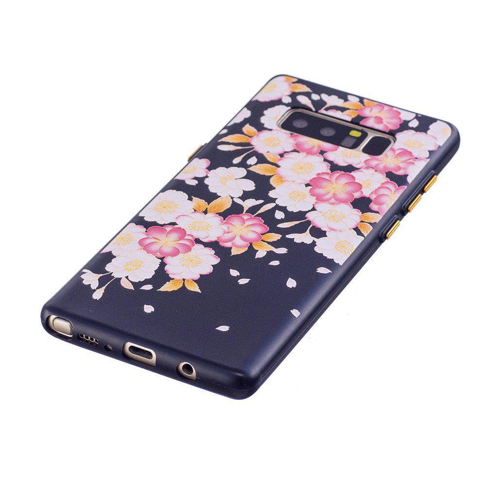 Embossed Flower Pattern Phone Case for Samsung Galaxy Note 8 - FLORAL