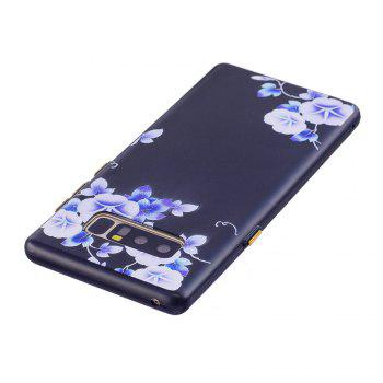 Embossed Blue Flower Pattern Phone Case for Samsung Galaxy Note 8 - FLORAL