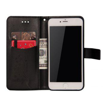 Slender Hand PU Leather Dirt Resistant Phone Case for iPhone 6 Plus - BLACK