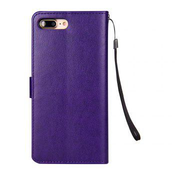 Slender Hand PU Leather Dirt Resistant Phone Case for iPhone 7 - PURPLE