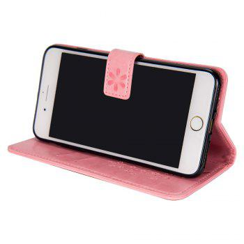 Slender Hand PU Leather Dirt Resistant Phone Case for iPhone 7 - PINK