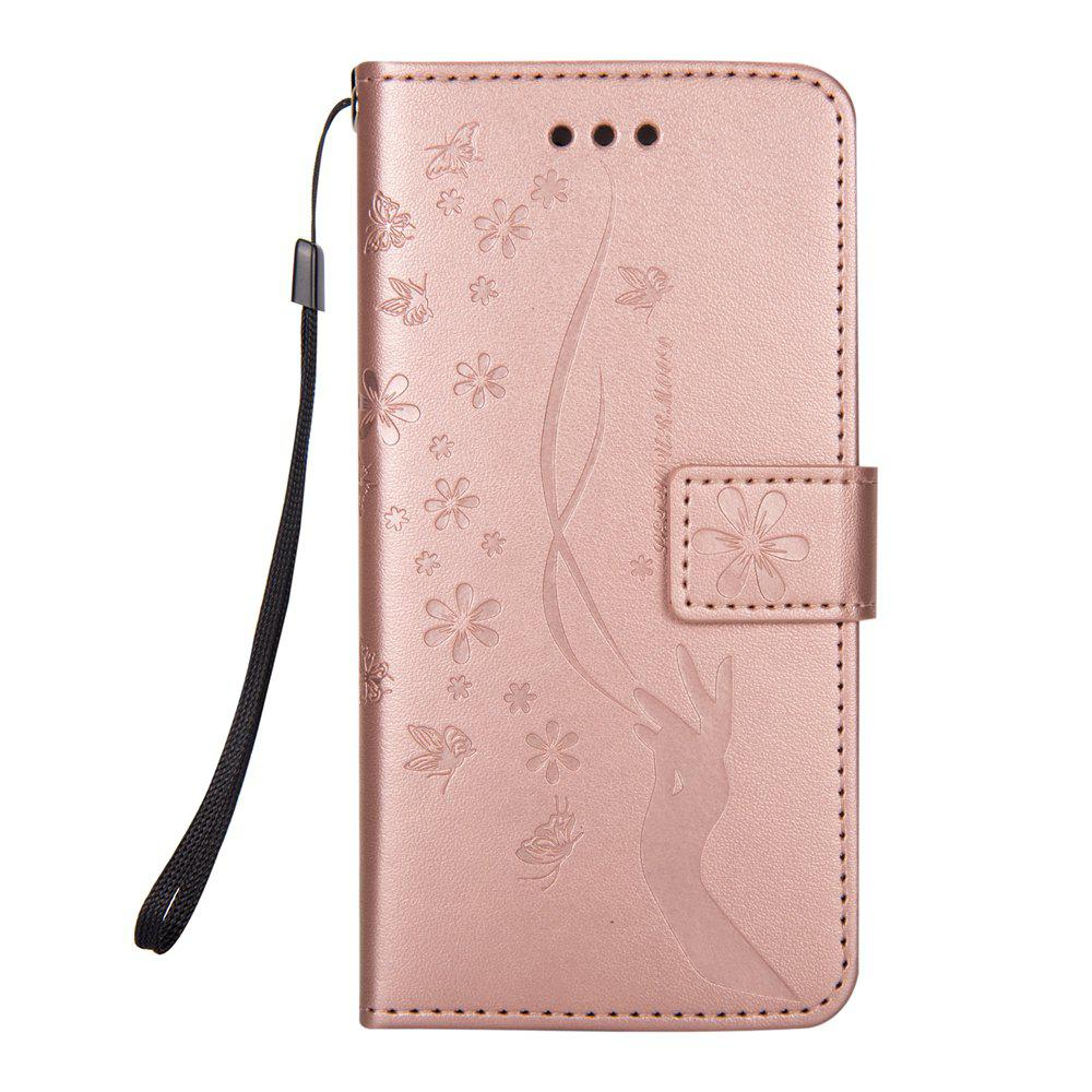 Slender Hand PU Leather Dirt Resistant Phone Case for iPhone 7 - ROSE GOLD