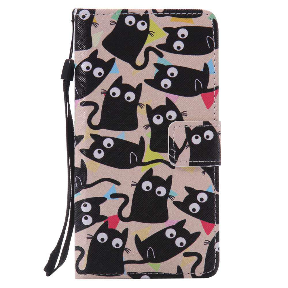Kitten Painted PU Phone Case for HUAWEI P9 Lite - COLORMIX
