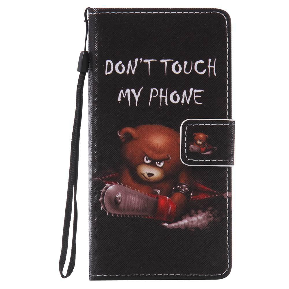 Bear Painted PU Phone Case for HUAWEI P9 Lite - COLORMIX