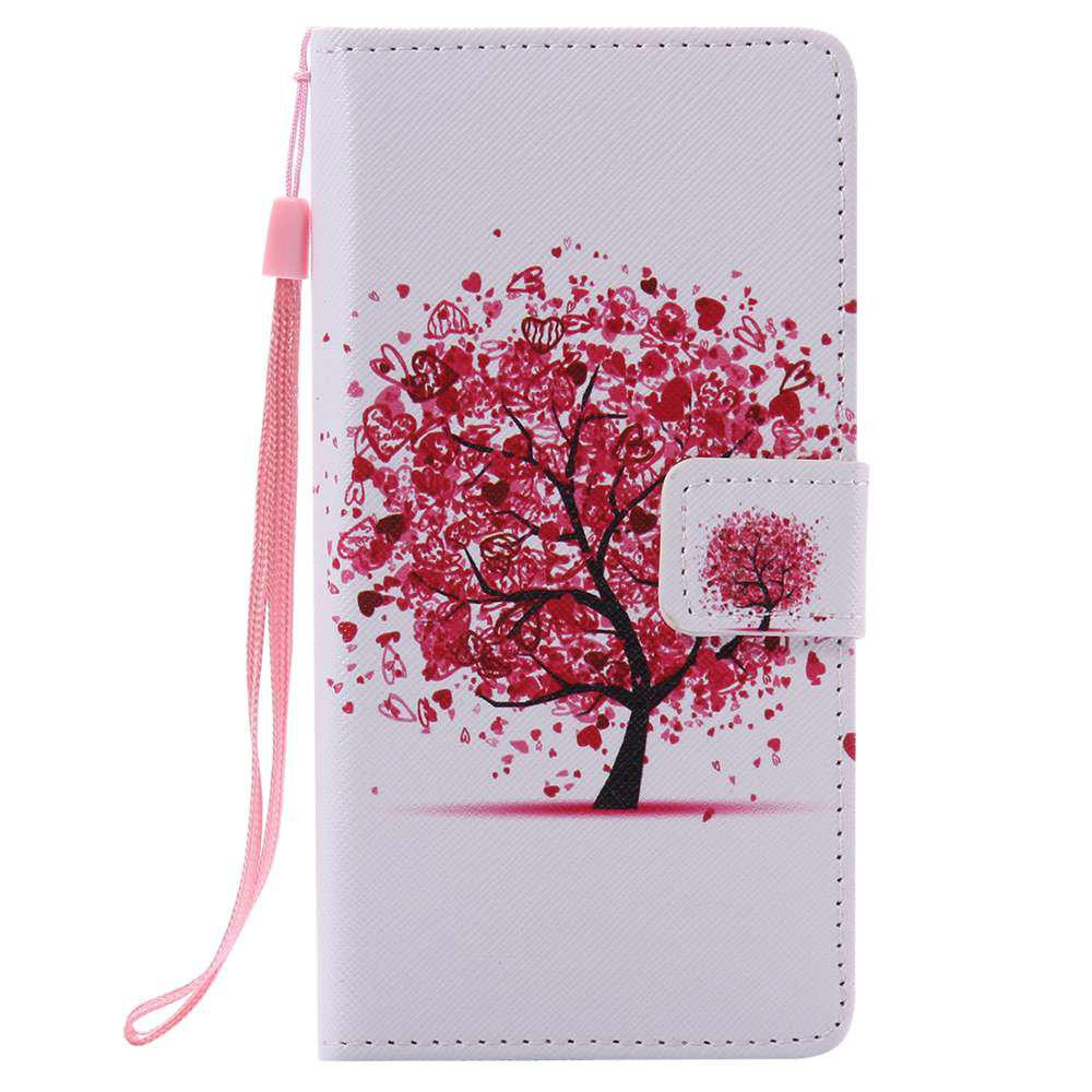 Color Tree Painted PU Phone Case for HUAWEI P9 Lite - COLORMIX