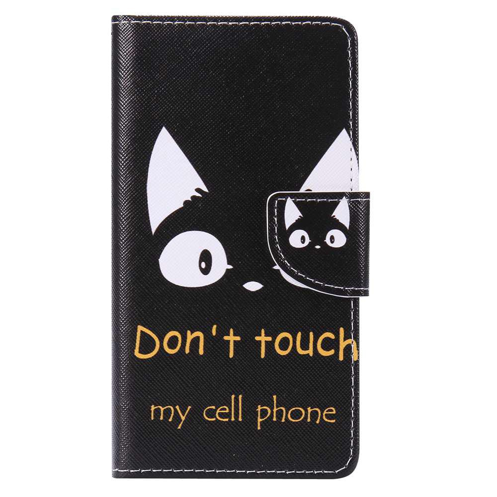 Cat Ears Painted PU Phone Case for HUAWEI P9 Lite - COLORMIX