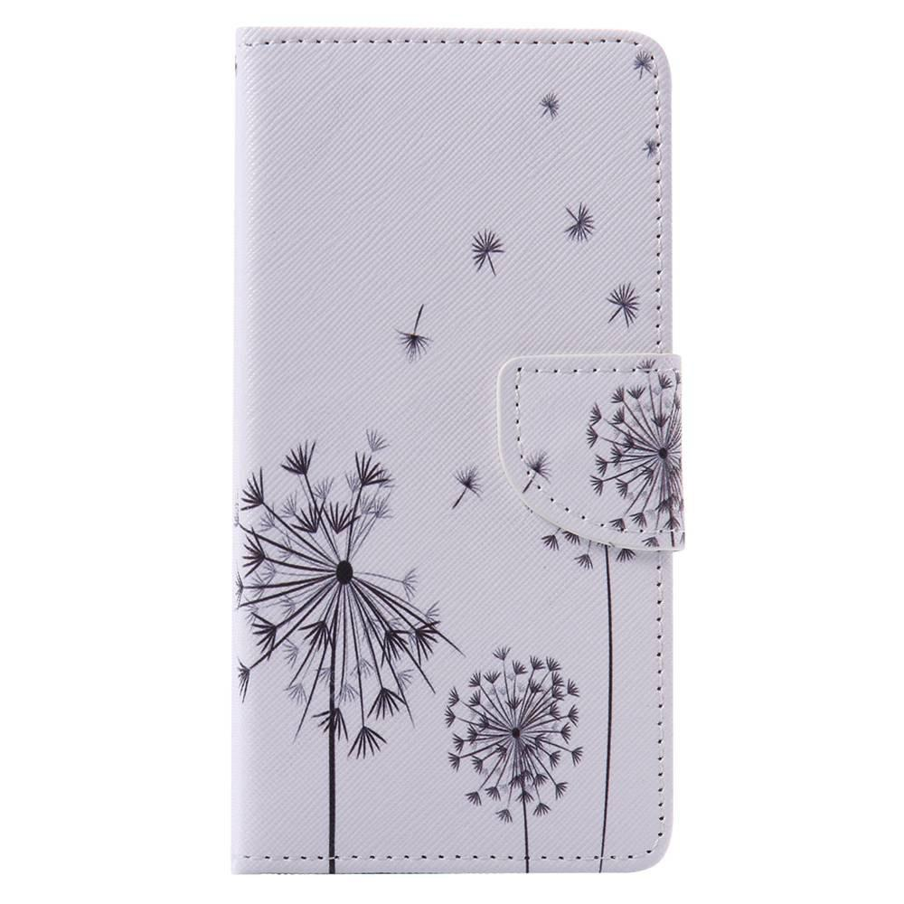 White Dandelion Painted PU Phone Case for HUAWEI P9 Lite - COLORMIX