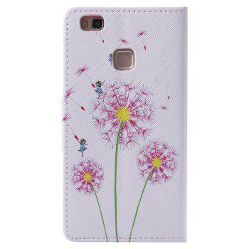 Pink Dandelion Painted PU Phone Case for HUAWEI P9 Lite -  COLORMIX
