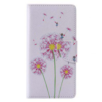 Pink Dandelion Painted PU Phone Case for HUAWEI P9 Lite - COLORMIX COLORMIX