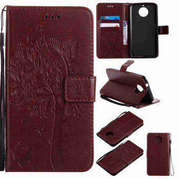 Double Embossed Sun Flower PU TPU Phone Case for  Moto G6 Plus / G5S Plus - BROWN BROWN