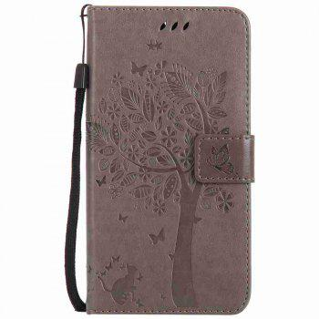 Double Embossed Sun Flower PU TPU Phone Case for  Moto G6 Plus / G5S Plus -  GRAY