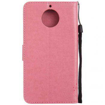 Double Embossed Sun Flower PU TPU Phone Case for  Moto G6 Plus / G5S Plus -  PINK