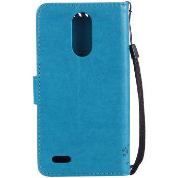 Double Embossed Sun Flower PU TPU Phone Case for  LG K10 2017 / Lv5 -  BLUE