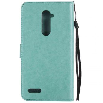 Double Embossed Sun Flower PU TPU Phone Case for  ZTE Z981 -  GREEN