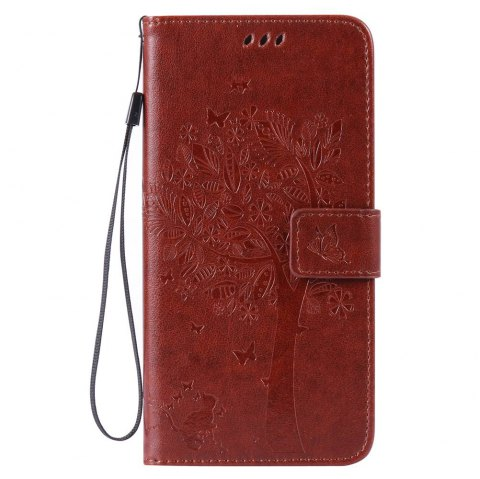 Double Embossed Sun Flower PU TPU Phone Case for  iPhone  6S Plus / 6 Plus - COFFEE