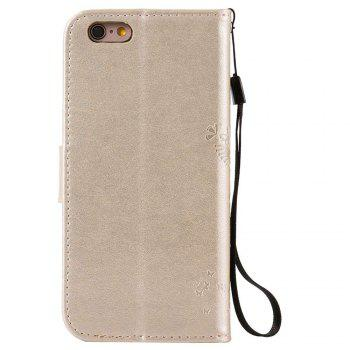Double Embossed Sun Flower PU TPU Phone Case for  iPhone  6S Plus / 6 Plus - GOLDEN