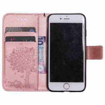 Double Embossed Sun Flower PU TPU Phone Case for  iPhone  6S Plus / 6 Plus - ROSE GOLD