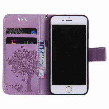 Double Embossed Sun Flower PU TPU Phone Case for  iPhone  6S Plus / 6 Plus - RADIANT