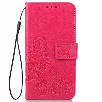 PU + TPU Phone Case for Elephone P9000 - RED RED