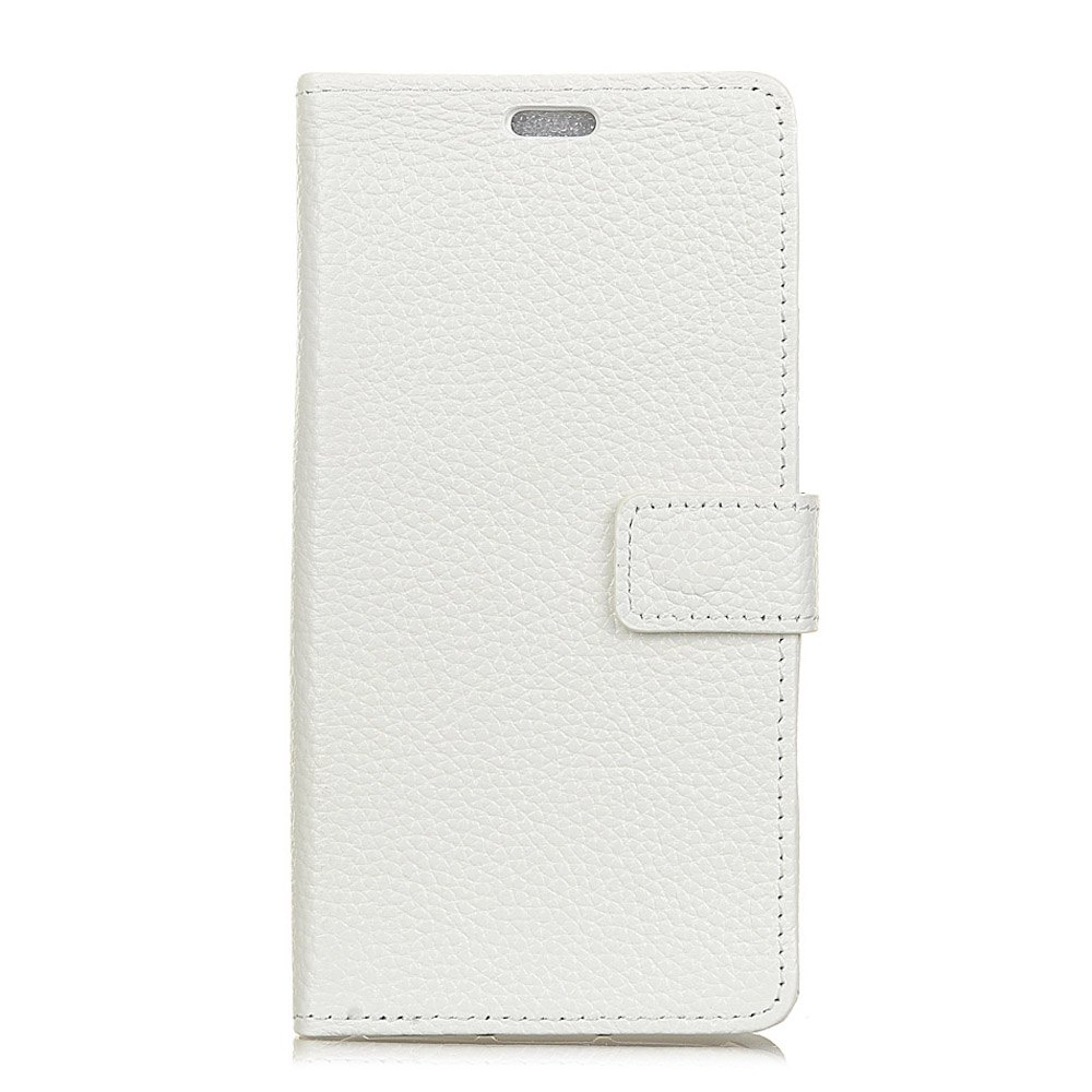 Wkae Genuine Leather Wallet Case with Kickstand for HTC U11 Plus - WHITE