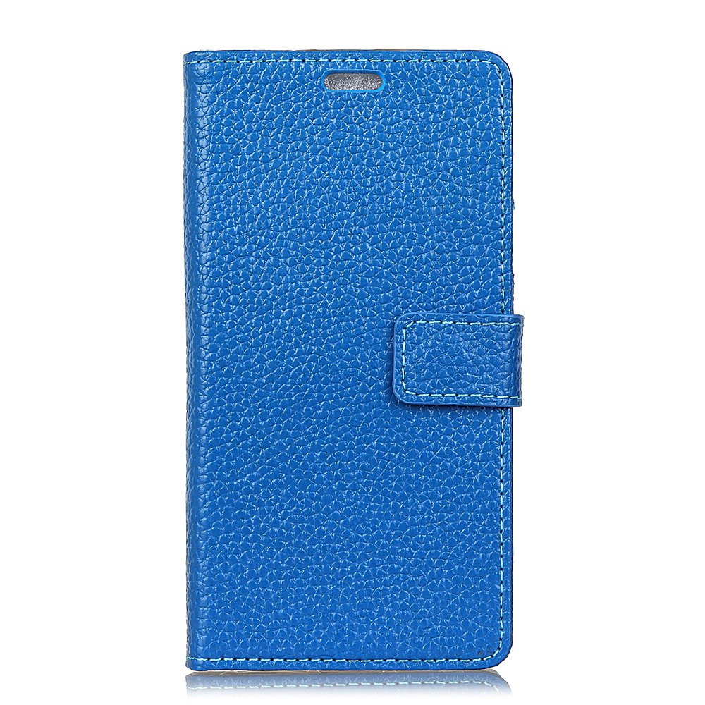 Wkae Genuine Leather Wallet Case with Kickstand for Wiko Wim - BLUE