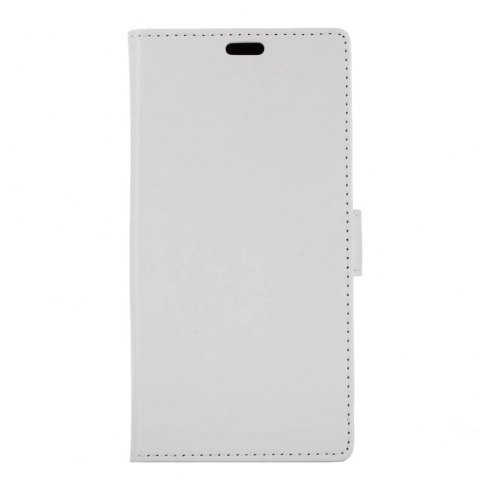 Wkae Crystal Grain Texure Faux Leather Wallet Case for Doogee X20 - WHITE