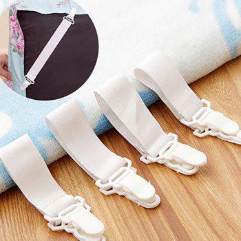 DIHE Bed Sheet Fixing Band Retaining Clip Skid Resistance Elastic Cord 4pcs