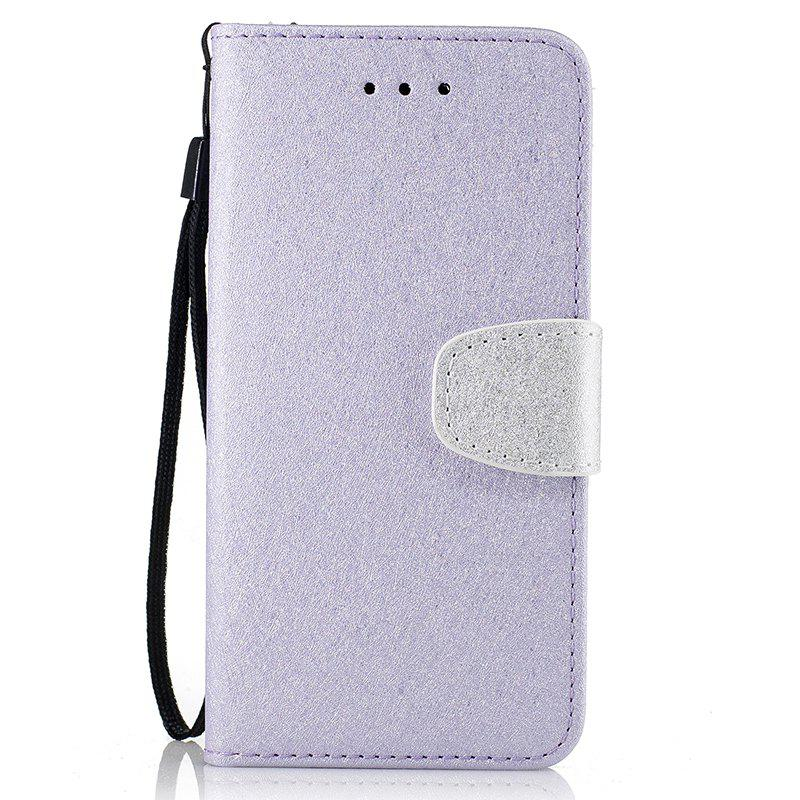 Natural Silk Double Color Texture PU Leather Case with Wallet Card Slots for Huawei P9 Lite - RADIANT