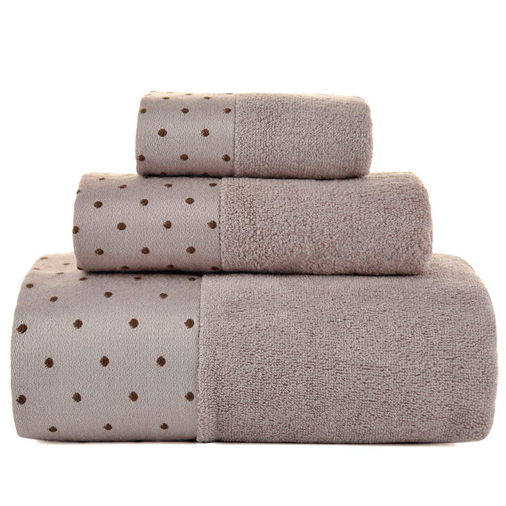 Square Bath Set of Bamboo Pulp Fiber - BROWN