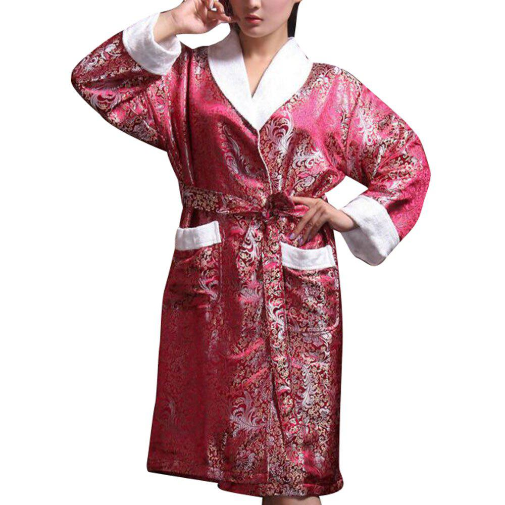 Double Deck Pajama with Bamboo Fiber - RED ONE SIZE