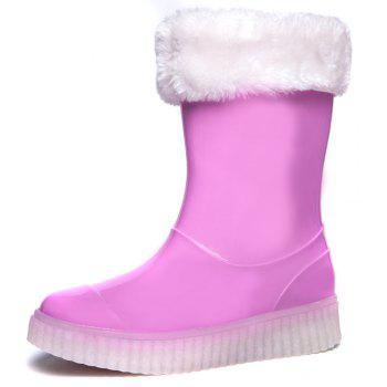 LED Women Warm Casual Shoes Winter Light Snow Boots Female Elevator Cotton Sneakers - PINK PINK