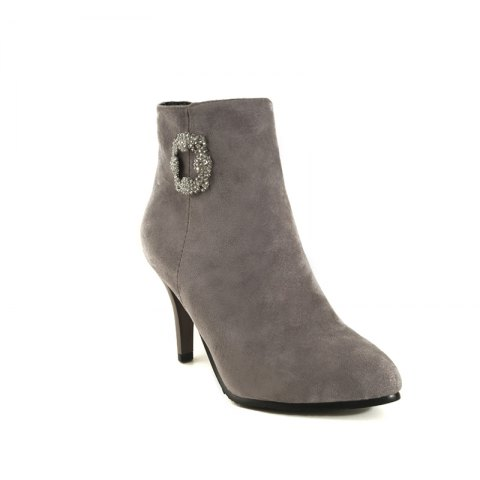 Sharp Pointed with High-Heeled Sexy Diamond Bare Boots - GRAY 46