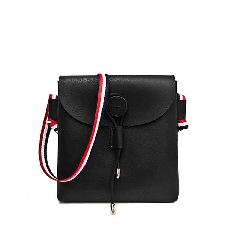 Bag Female 2017 New Style Wild Messenger Shoulder Small Square Bag - BLACK