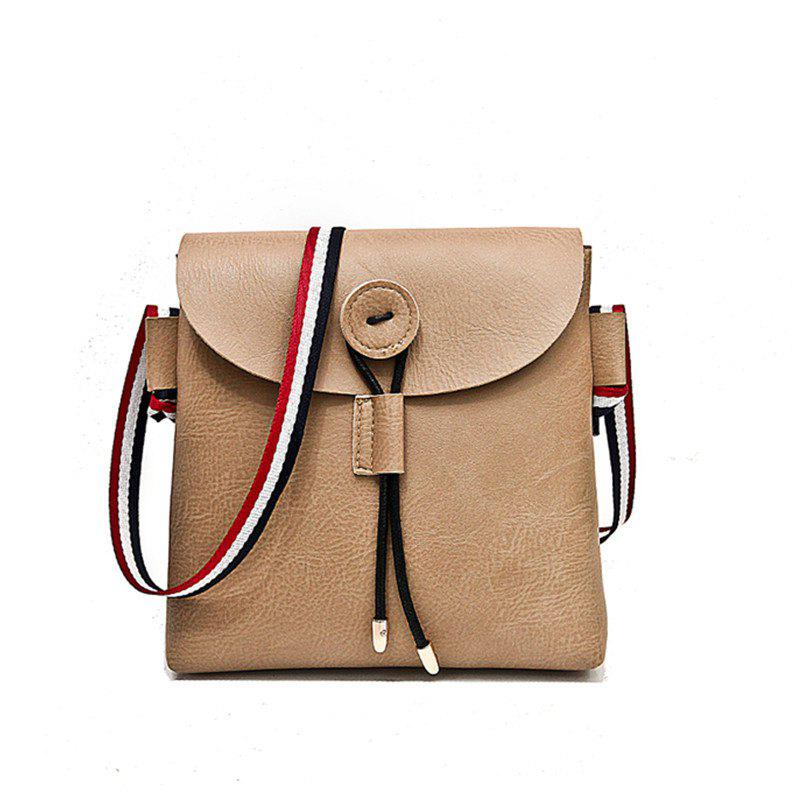 Bag Female 2017 New Style Wild Messenger Shoulder Small Square Bag - KHAKI