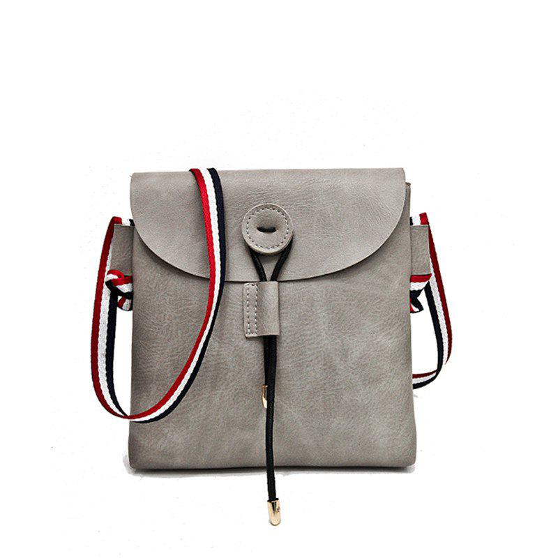 Bag Female 2017 New Style Wild Messenger Shoulder Small Square Bag - GRAY
