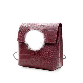 Handbags New Wild Crocodile Pattern Retro Fashion Messenger Shoulder Bag - RED
