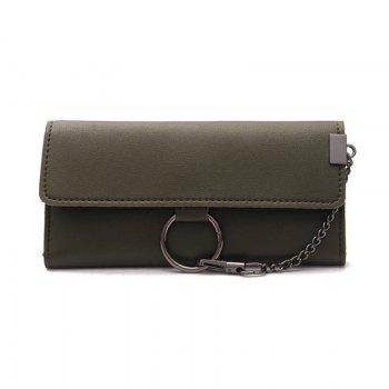 Female Long Business Fashion Chain Multi-functional Buckle High-capacity Women's Wallets - GREEN GREEN